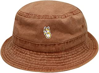 22922f80ae4 City Hunter Bd2020 Cute Welsi Corgi Washed Cotton Bucket Hat - Multi Colors