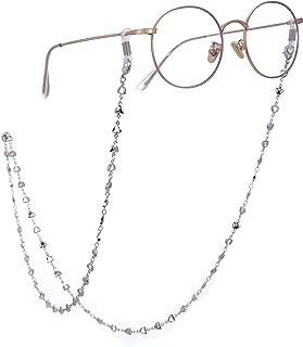Cooltime الفضة / روز الذهب الذهب القلب سلسلة النظارات الرجال النساء اكسسوارات النظارات