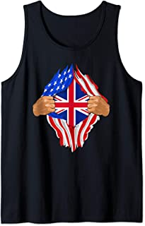 British Blood Inside Me Art | United Kingdom UK Flag Gift Tank Top