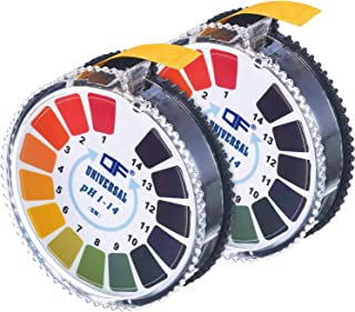 pH Test Strips 0-14, Esee pH Test Paper to Test Water Quality for Drinking Water, Food, Pools, Aquariums, Track Your pH Level Using Saliva or Urine,2 Rolls, 5M/16.4 ft Per Roll