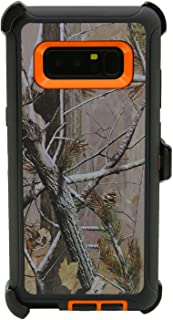 WallSkiN Turtle Series Cases for Samsung Galaxy Note 8 (Only) Tough Protection with Kickstand & Holster - Pinus (Tree Bough/Orange)