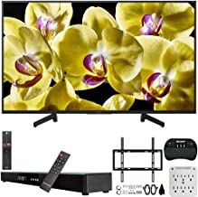 Sony XBR-43X800G 43-inch 4K Ultra HD LED Smart TV (2019) Bundle with Deco Gear 31-inch Sound Bar, Deco Mount Flat Wall Mount Kit, Deco Gear Wireless Keyboard, 6-Outlet Surge Adapter with Night Light