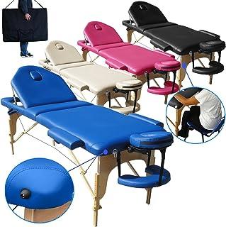 Beltom Camilla de Masaje 3 Zonas Nuevo Modelo portatil Mesa Cama Banco Plegable Reiki - Azul