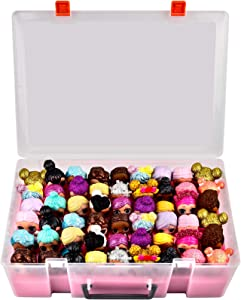 Adam Dolls Toys Organizer Storage Case for LL Dolls, Calico Critters, LPS Figures, Shopkins, Lego Dimensions and More Mini Dolls Toys Container Box(No Dolls Included)