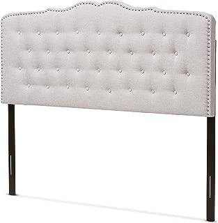 Baxton Studio Karessa Modern & Contemporary Greyish Beige Fabric King Size Headboard