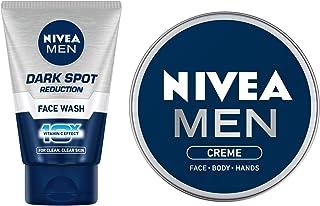 Nivea Men Face Wash, Dark Spot Reduction, 100G And Nivea Men Moisturiser, Cream, 75ml