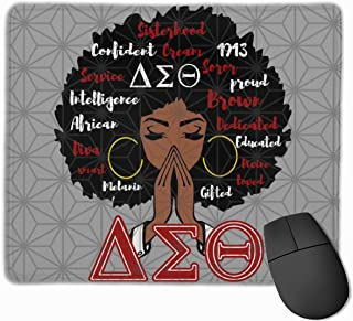 Delta Sigma Theta Mouse Pad with Stitched Edge, Premium-Textured Mouse Mat, Non-Slip Rubber Base Mousepad for Laptop, Computer & PC,9.8x11.8 Inches