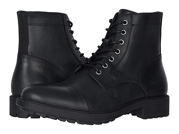 1920s Men's Clothing FRYE AND CO. Cody Lace-Up Black Vintage Pull Up Leather Mens Boots $115.42 AT vintagedancer.com