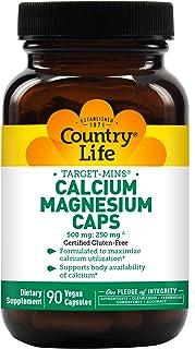 Country Life Target Mins Calcium-Magnesium - 90 Vegetarian Capsules