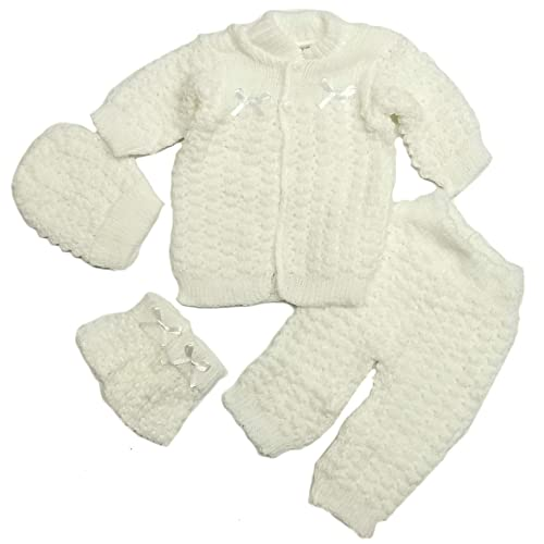 f8d09f261 Fashion Cute Newborn Baby Boy's Girl's Unisex Warm Winter 4 Pieces Crochet  Set