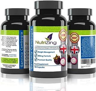 NutriZing Garcinia Cambogia - 100% Fórmula Pura y Natural, Termogénica, Quemagrasas, Ayuda a Reducir el Apetito - Para los Hombres y las Mujeres - Pastillas Adelgazantes Efectivas - Adelgazar