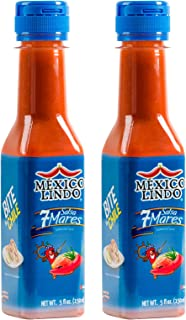 Mexico Lindo 7 Mares Hot Sauce, 5 fl oz ( Pack of 12)