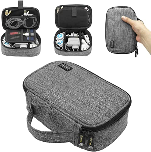 sisma Travel Electronics Organiser Carrying Case for Power Cords Power Bank Earbuds Hard Drives Memory Cards Laptop A...