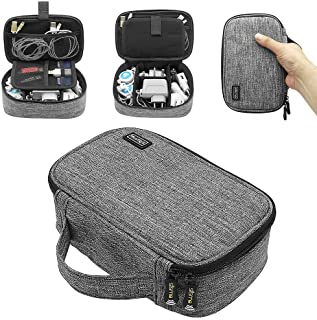 sisma Travel Electronics Organiser Carrying Case for Power Cords Power Bank Earbuds Hard Drives Memory Cards Laptop Adapter Mouse Small Accessories -Grey 1680D Fabrics SCB17092B-OG