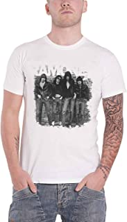 Ramones T Shirt First Album Faded Logo Official Mens White