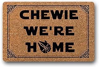 """BXBCASEHOMEMAT Chewie We're Home Doormat - Star Wars Welcome Mat 18"""" x 30"""""""