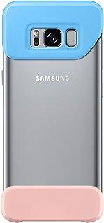 سامسونج جالكسي S8+ حافظة هاتف مكونة من قطعتين - ازرق/زهري, EF-MG955