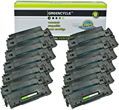 GREENCYCLE High-Yield 55A CE255A Toner Cartridge Replacement Compatible for HP Laserjet P3010 P3011 P3015 P3015d P3015x P3016 M521dn M525dn M525f M525c, Page Yield Up to 10000 Pages (Black, 10 Pack)