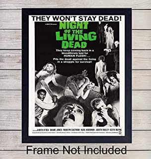 The Night of the Living Dead Poster- Vintage Wall Art Print - 8x10 Vintage Unframed Photo - Perfect Gift For Horror Film and Movie Buffs - Chic Home Decor