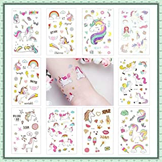 5Pcs Disposable Tattoo Sticker Unicorn Party Decoration Baby Kids Unicorn Birthday Party Favors Temporary Tattoos Supplies (Color : 1)