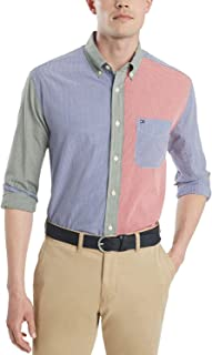 Tommy Hilfiger Men's Linen Long Sleeve Button Down Shirt in Classic Fit