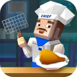 Chicken Wings Cooking Deep Fry Food: BBQ Grill Maker   Pixel Cooking Dash Café World Fast Food Restaurant
