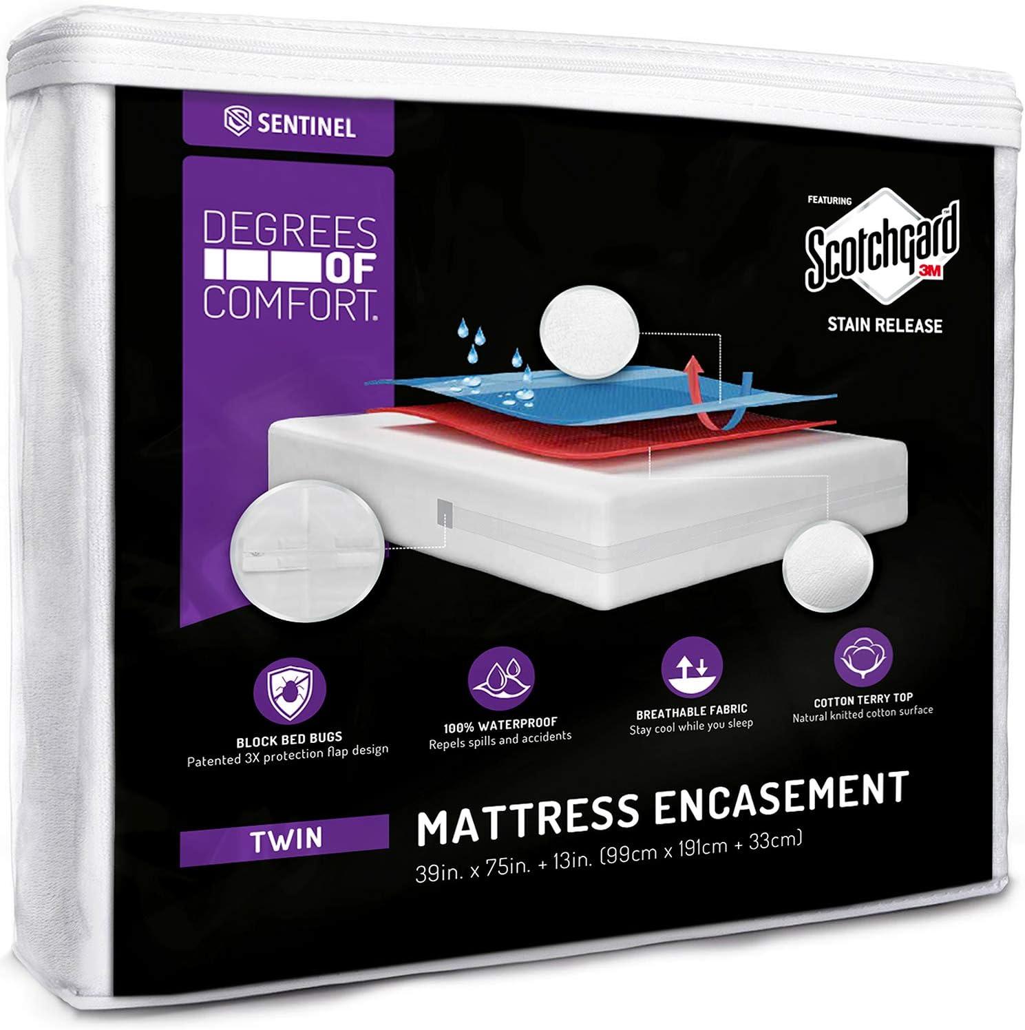 SEAL limited product Degrees of Comfort Zippered Mattress Waterproof Twin Luxury goods Encasement