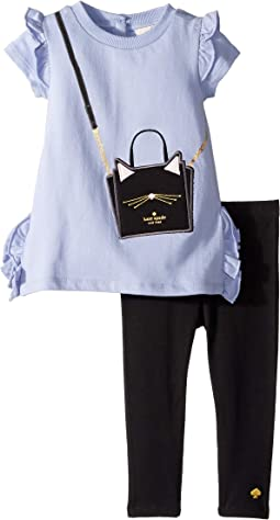 Kate Spade New York Kids - Cat Handbag Leggings Set (Infant)