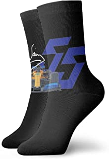 Yuanmeiju calcetines de punto Carlos Sainz Socks,Double Dry Moisture Wicking Odor Crew Socks for Men and Women One Size