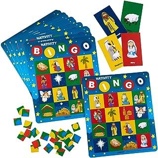 Christmas Nativity Scene Bingo Game Set, 7 Inch, Set of 16