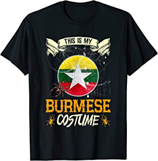 This Is My Burmese Costume Halloween Funny Gift T-Shirt