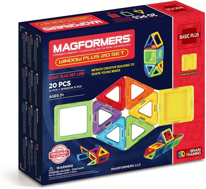 Magformers Window Max 46% OFF Plus 20 Pieces Rainbow Louisville-Jefferson County Mall Colors Educational Mag