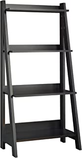 Bush Furniture Alamosa Ladder Bookshelf, Classic Black