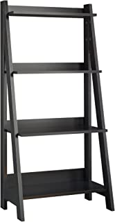 Bush Furniture Alamosa Ladder Bookshelf, Classic Black