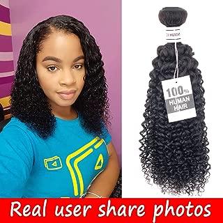 Brazilian Curly Hair 1 Bundles 14 Inch Kinky Curly Weave Hair Bundles Human Hair Natural Color
