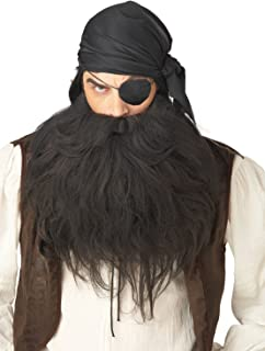 California Costumes Pirate Beard And Moustache Costume Accessory