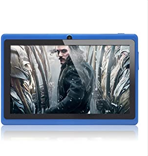 Haehne 7 Pollici Tablet PC, Google Android 4.4 Quad Core, 512MB RAM 8GB Rom, Doppia Fotocamera, WiFi, Bluetooth, per Bambi...