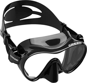 Maske Cressi Sub Perle Schwarz Fischen Apnea Silikon Glas Maske Meer Maskara