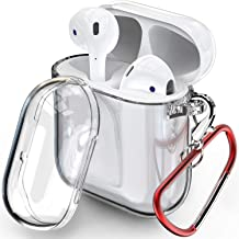 TOZO for AirPod Case Premium Clear Soft TPU Gel Transparent Flexible Cover for AirPods 1 and 2 [Clear Gel]