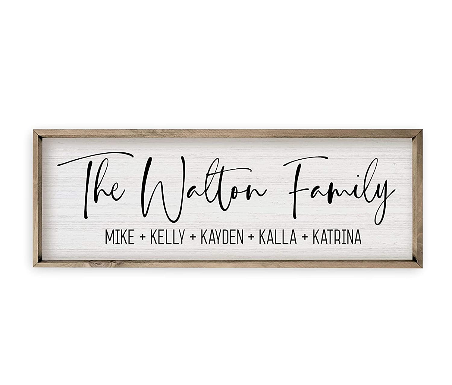 Personalized Framed Wooden Family Name Sign