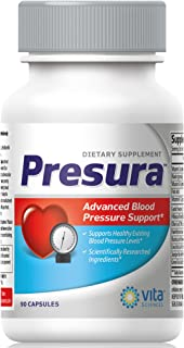 Blood Pressure Support Formula - Naturally Promote Healthy Blood Pressure with Hawthorn Berry, Niacin, Garl...