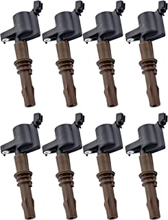 Pack of 8 Brown Boot Ignition Coils for 2008-2016 Ford Expedition F450 F550 Super Duty Lincoln Navigator Compatible 8L3Z-12029-A C1659 DG521 4.6L 5.4L 6.8L