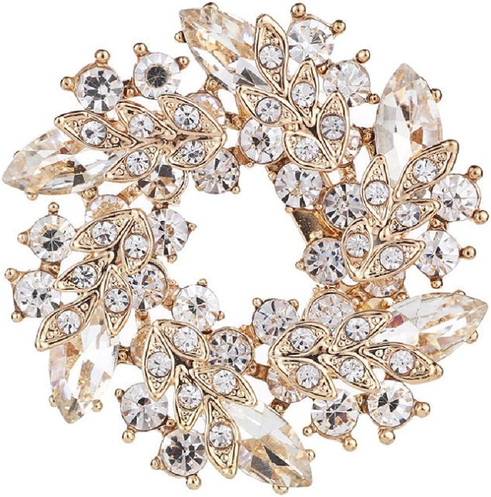 Daisy Jewelry Vintage Rhinestone Bridal Wedding Bouquet Flower Wreath Brooch Pins for Women