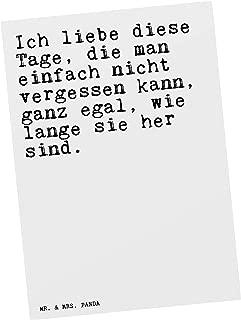 Mr Mrs Panda Postkarte Mit Spruch Ich Liebe Diese Tage