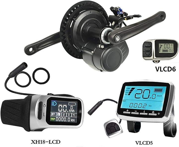 Motore centrale per bicicletta elettrica con sensore di coppia e display lcd vlcd5/xh-18 pswpower B077PRQVVP