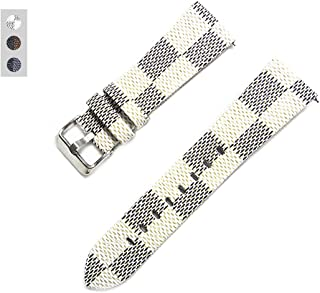 2018 New Universal 22mm Fashion Trend Leisure Brand Leather Watch Band Top Replacement Bracelet Men's Women's Watch Strap - 4PCS Spring Switch Pins (White 22mm)