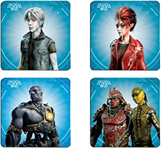 Ready Player One - High Five - Glossy Coaster Set - Protect Surfaces with Parzival Aech Art3mis Daito Shoto - Designed and Printed in the USA by Trend Setters Ltd