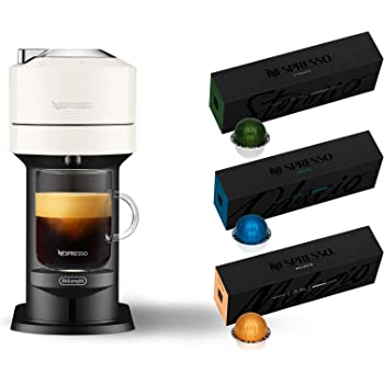 Nespresso Vertuo Next Coffee and Espresso Machine by De'Longhi, White, Compact, One Touch to Brew, Single-Serve Coffee Maker and Espresso Machine