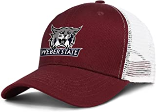 Unisex Cotton Baseball Cap Weber-State-Logo- Adjustable Ball Hat