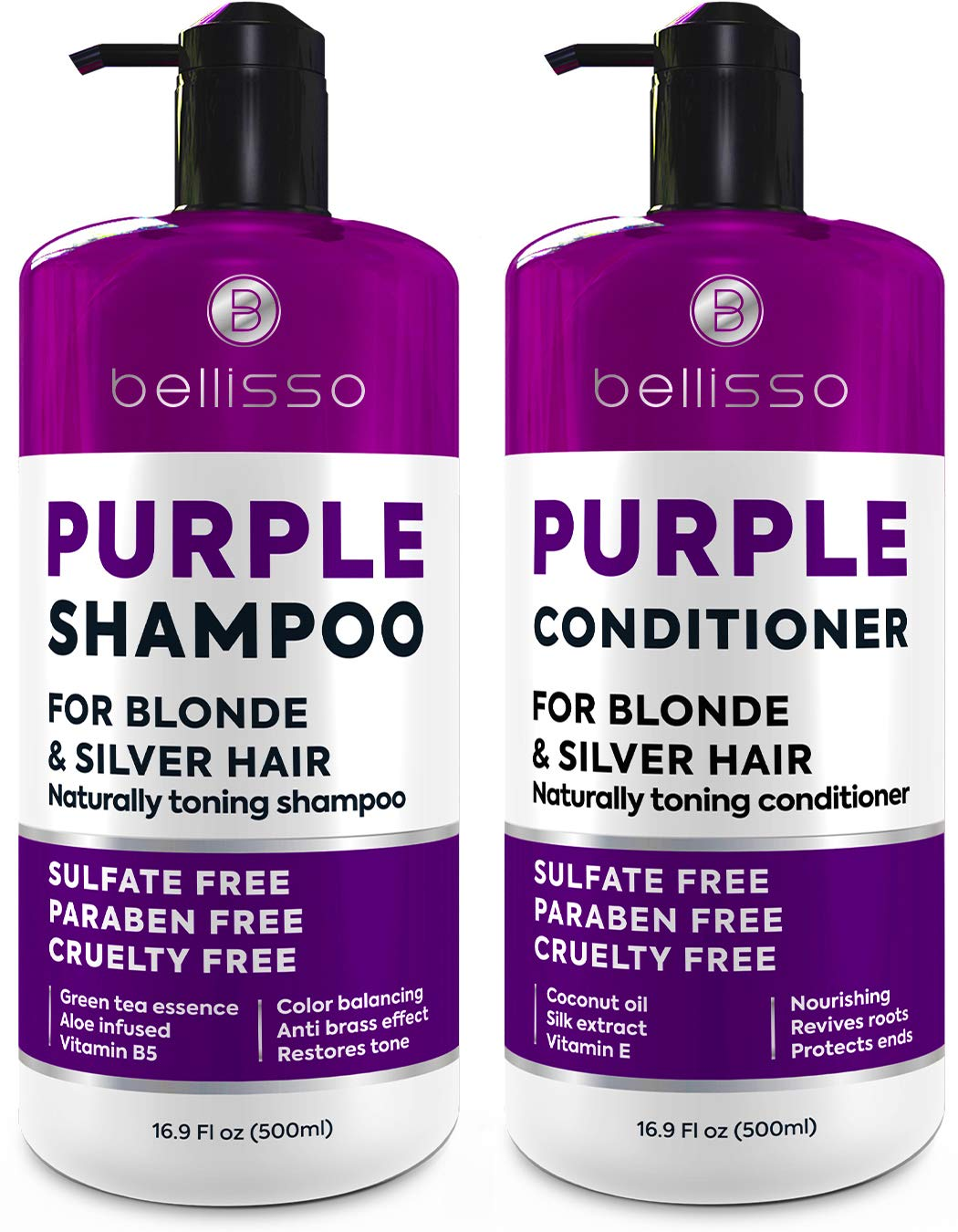 Purple Inventory cleanup selling sale Shampoo and Conditioner Set Year-end annual account - Free Grade 2 Salon Sulfate